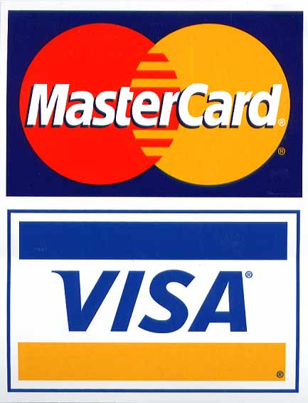 credit cards logos. pictures creditcards