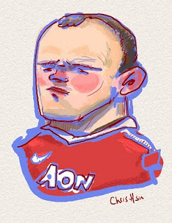wayne rooney illustration caricature chris hsu