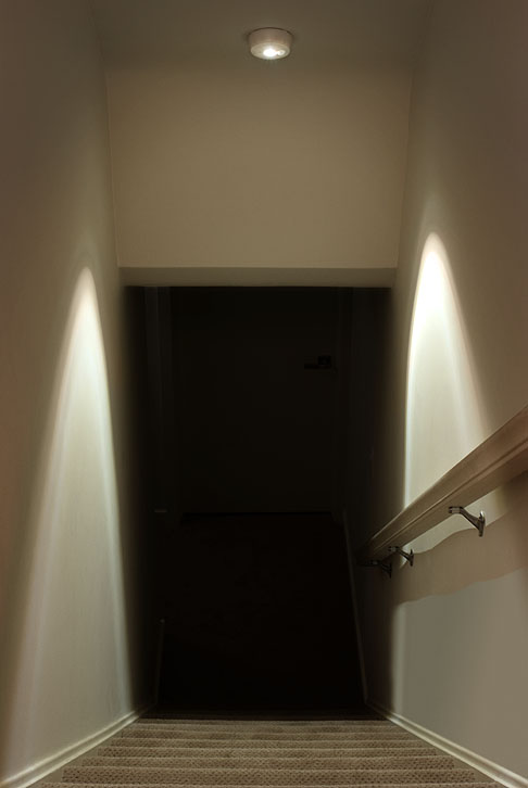 Light Up Dark Stairs With The Mr. Beams Ceiling Light