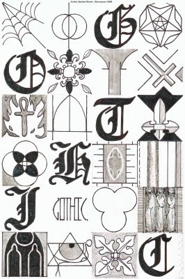 Marco Moone Gothic Symbols. Work Safety Signs. Food Product Banners. Metal Gear Stickers. Partner Signs. Rush Murals. Miniature Decals. Stepped Care Signs. Bone Signs