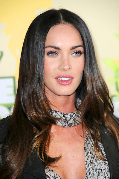 megan fox hair highlights. megan fox hair highlights.