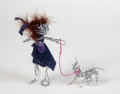 Art for small hands in the style of alexander calder for Dog wire art