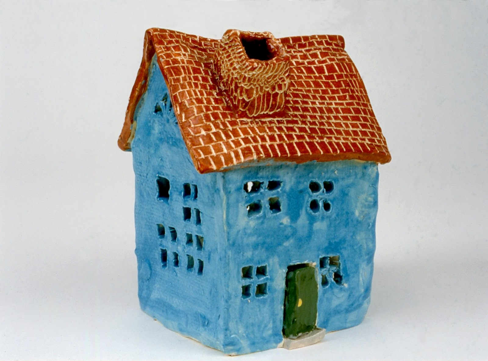 art for small hands: clay - houses
