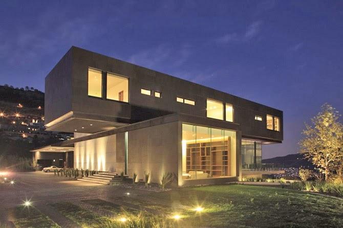 Luces de piso para fachadas minimalistas interior for Luces para exterior de casa
