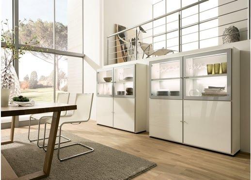 Casas minimalistas y modernas muebles para comedores y living for Muebles de comedor modulares