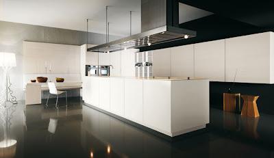 Casas minimalistas y modernas cocinas con grandes islas Cocinas grandes modernas