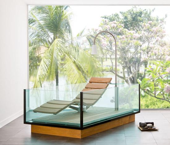 Casas minimalistas y modernas ba eras water lounge - Baneras modernas ...