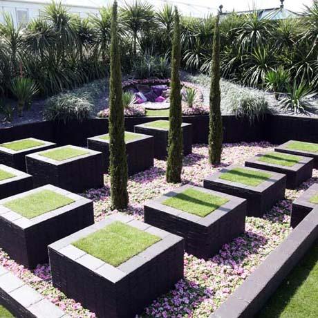Casas minimalistas y modernas jardines rigidos for Jardines minimalistas