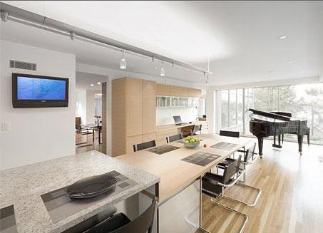 Casas minimalistas y modernas cocinas integradas for Diseno de cocinas integradas al comedor