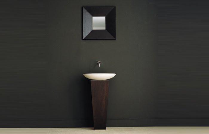 Casas minimalistas y modernas nuevos lavatorios con pie for Casas modernas oscuras