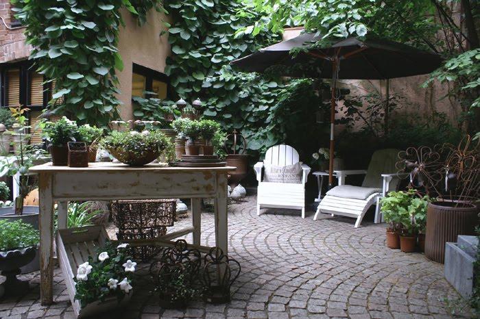 estilo rustico mas patios rusticos