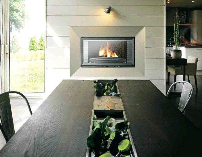 Casas minimalistas y modernas estufas de le a empotrables - Estufas para casa ...