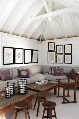 Estilo rustico muros rusticos con cuadros - Como colocar cuadros en un salon ...