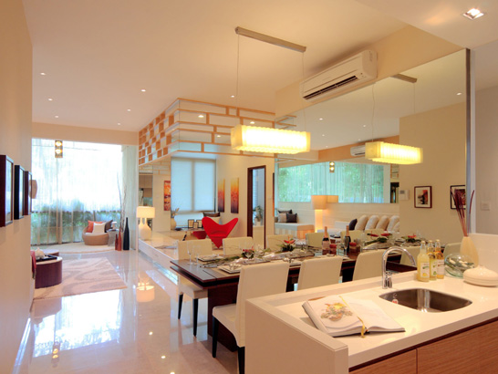 Casas minimalistas y modernas peque os pisos modernos for Piso cocinas minimalistas