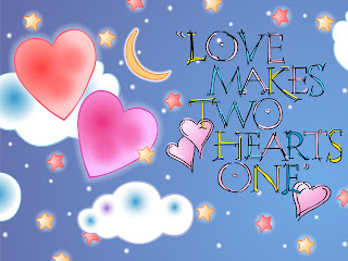 Love Makes Two Hearts One PSP Wallpaper