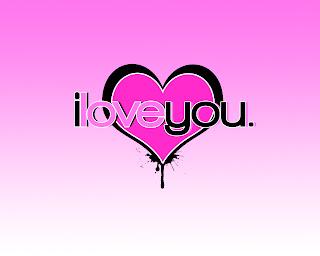 i love you. vector wallpaper