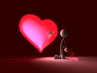 Glossy Red Heart 3D Wallpapers