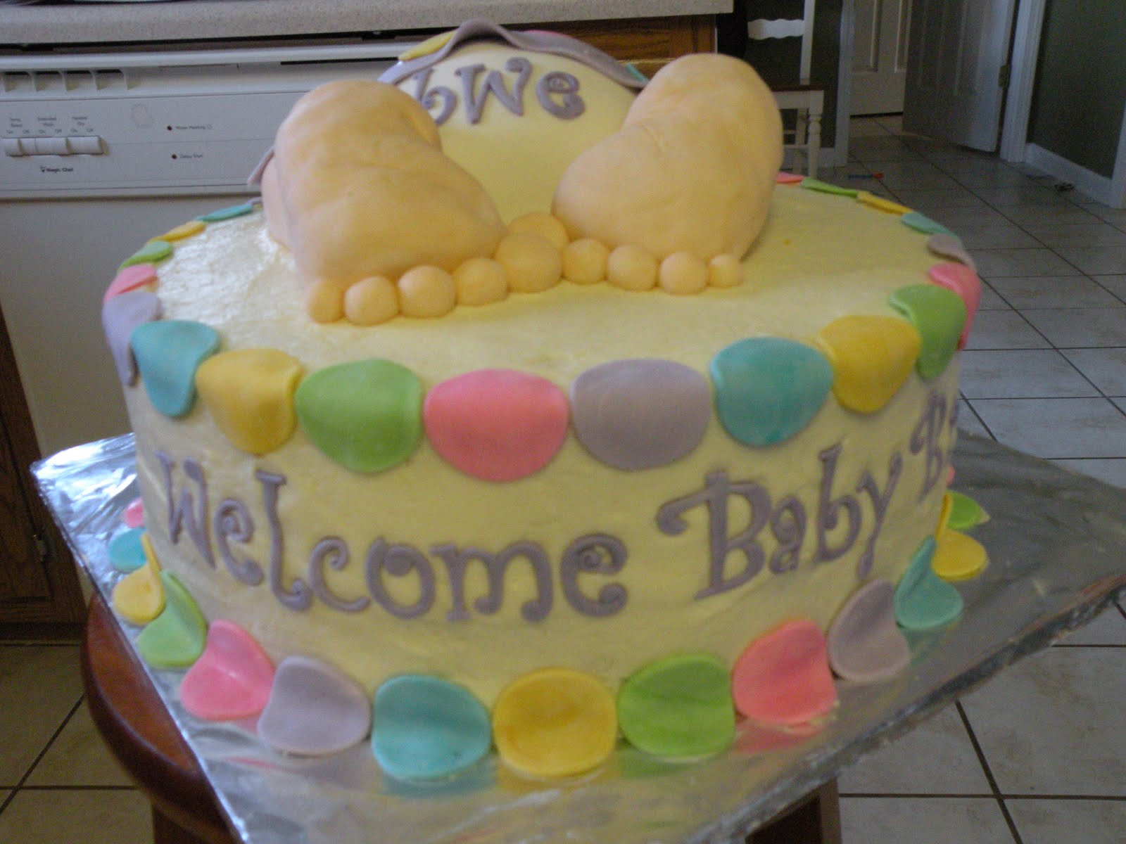 the baby bottom cake so cute i had seen this design on cake central a ...