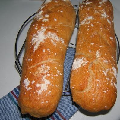 Barra sin amasado (baguettes sans pétrissage)