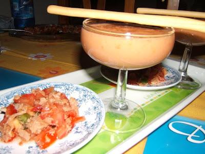 Gazpacho sevillano o Andaluz (gaspacho sévillan ou andalou)