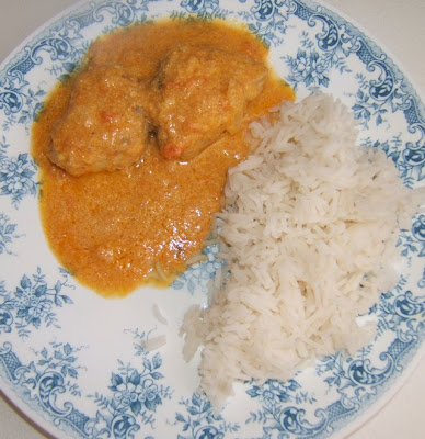 Bonito (poisson) au curry au lait de coco