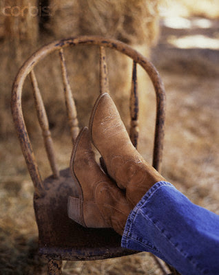 White cowboy boots for women.