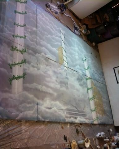 Bawden Fine Murals Theatre Stage Backdrop Of Heaven