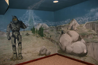 artistic murals halo mural with master chief halo mural flickr photo sharing
