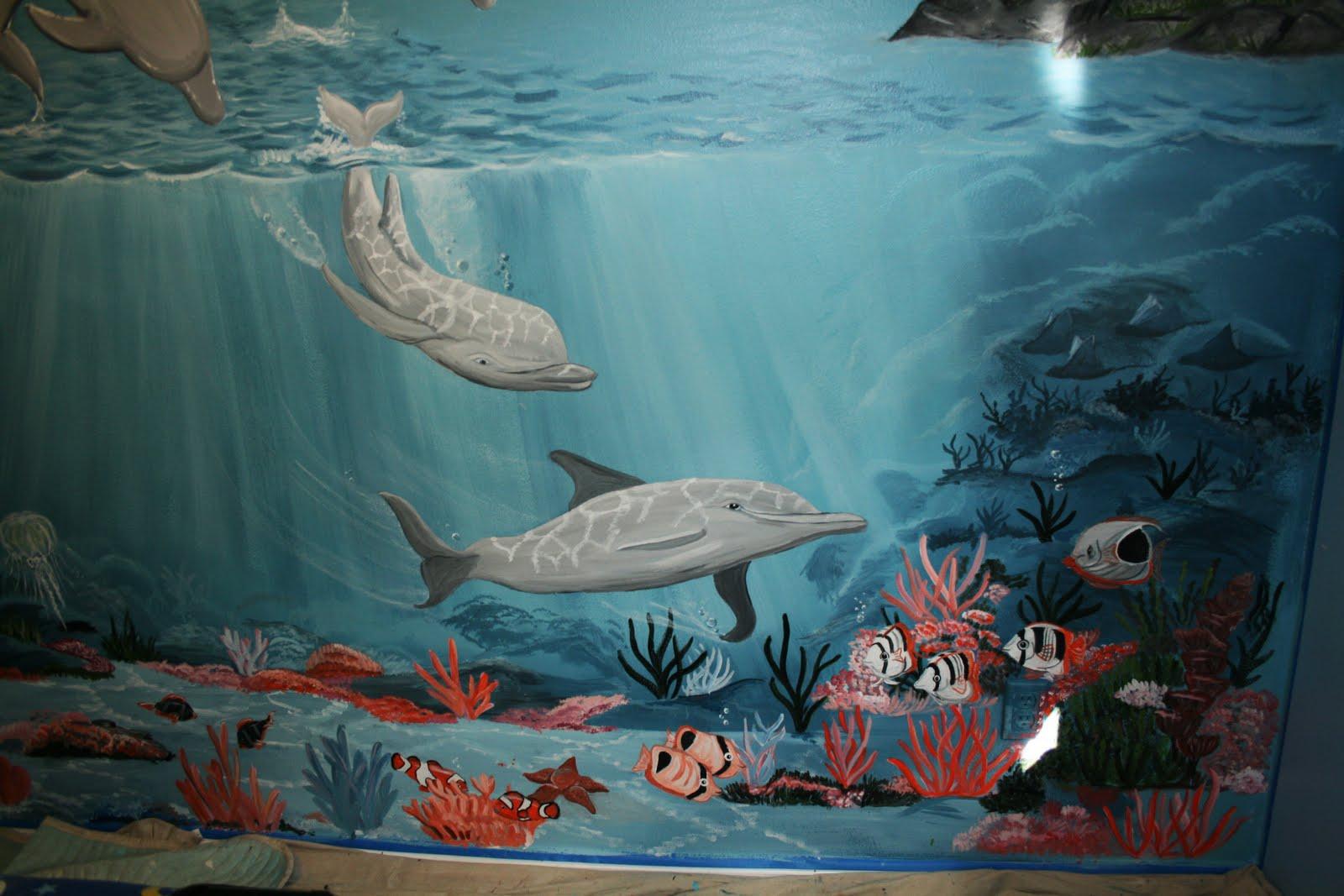 Bawden fine murals under the sea mural still pics for Mural under the sea