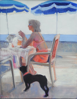 Blue Beach, Nice by Jo Whitney