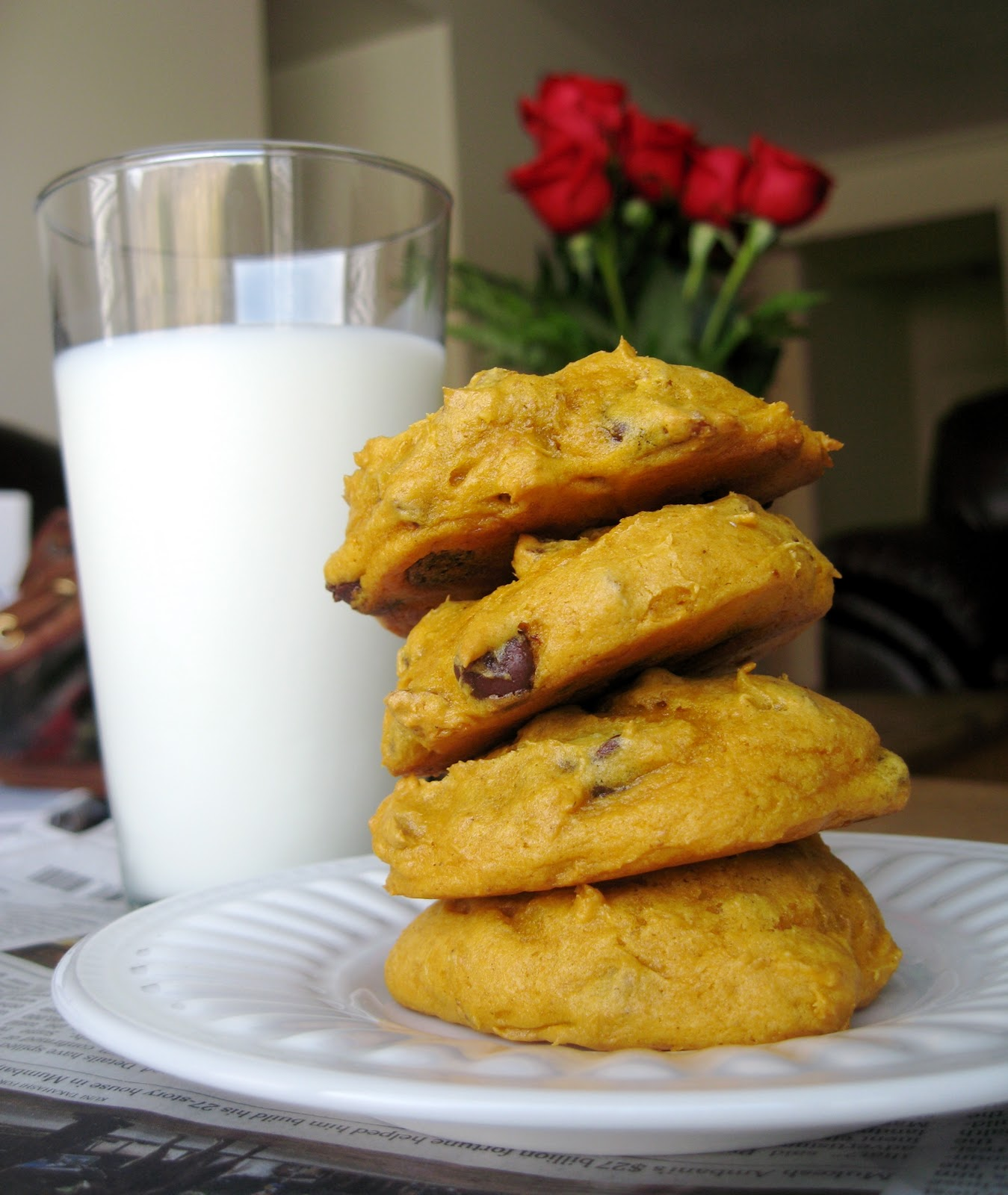 Pumpkin Chocolate Chip Cookies - Your Cup of Cake