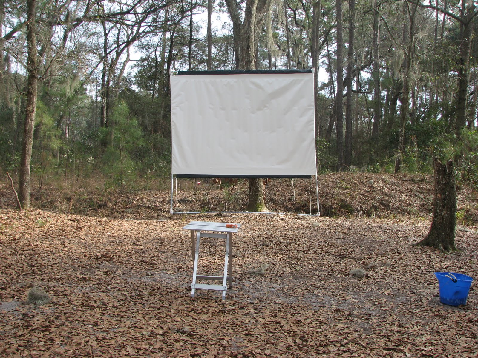 how to build an outdoor movie projector screen cheap