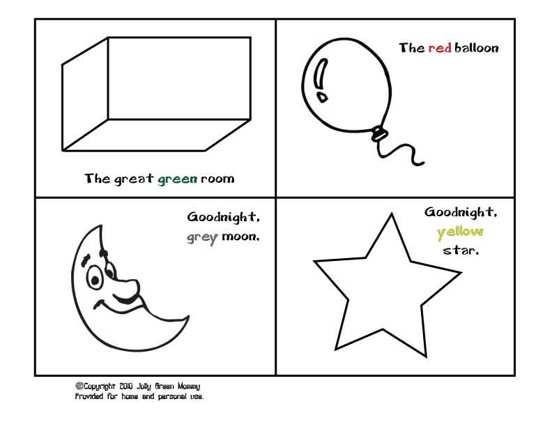 printable goodnight moon coloring pages - photo#7