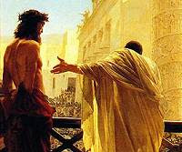 Yahshua with Pilate