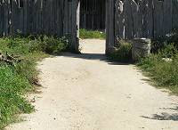 A pathway running uphill