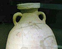 A Roman clay jar