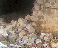 Collapsed masonry