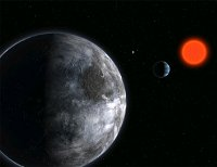 An artist's impression of an exoplanet system