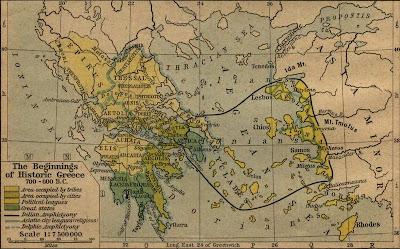 Η αρχαία Ελλάδα,μεταξύ του 700 & 600 π.Χ.