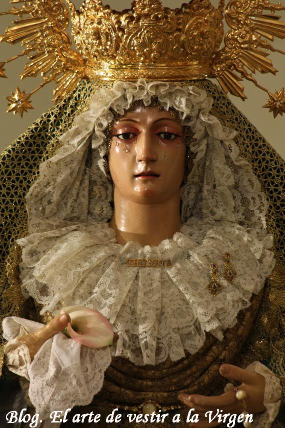 Victoria lebrija el arte de vestir a la virgen - Estudio victoria lebrija ...