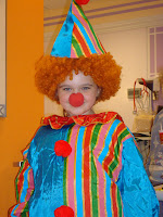 clown, Tapanga, dressed up, Cook Children's Hospital