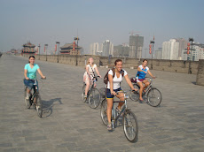Biking the city wall in Xi'an
