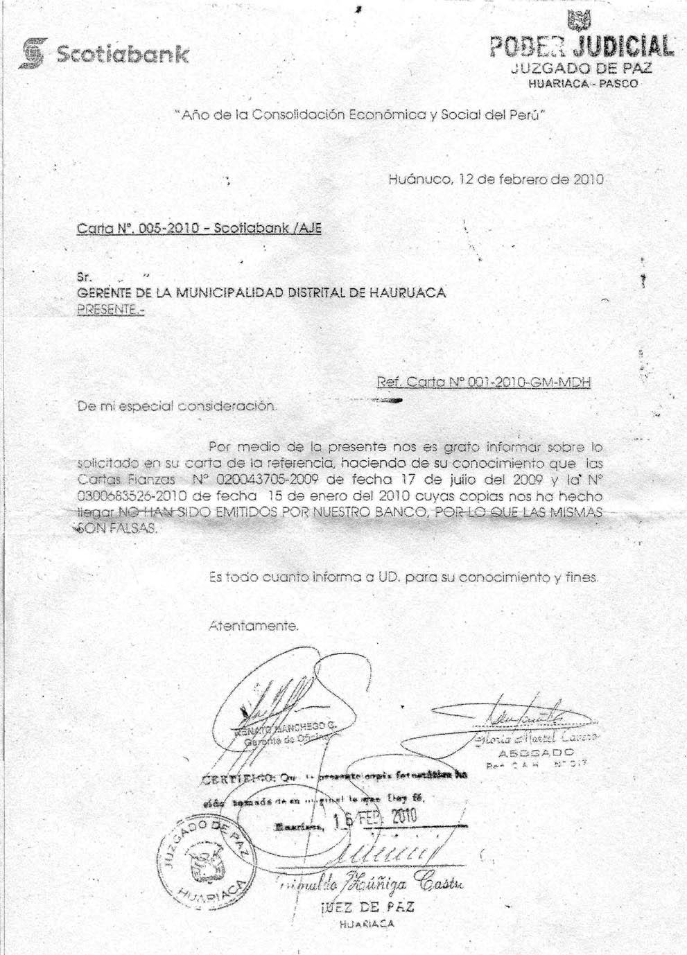 Con Carta Fianza Bamba TORISOL Construye Centro De Salud De Huariaca