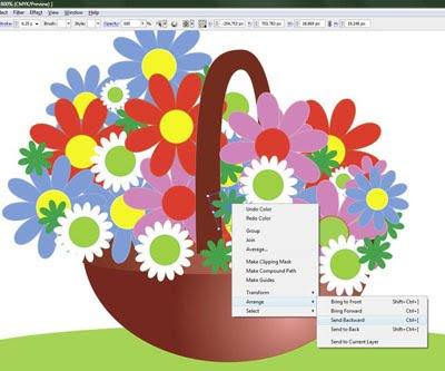 урок adobe illustrator: рисуем корзину с цветами