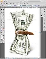 Уроки Adobe Illustrator:рисуем смятую купюру с помощью сетчатого градиента