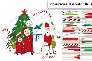 Кисти для Adobe Illustrator: снеговики, эльфы