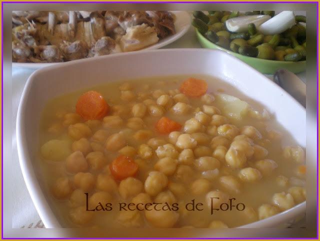 Las recetas de f fo puchero de garbanzos - Garbanzos olla express ...