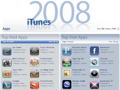 iTunes 2008 베스트 10
