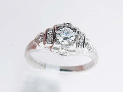 The unique shape of this ring is sure to get many compliments Cost 825