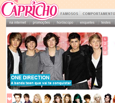 One Direction Brasil: Revista Capricho aposta em One Direction